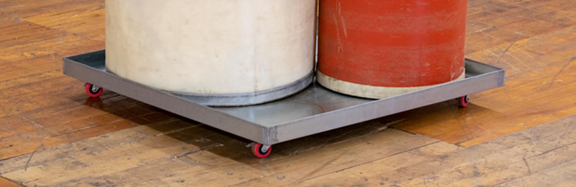 Large Metal Round Oil Drip Pan