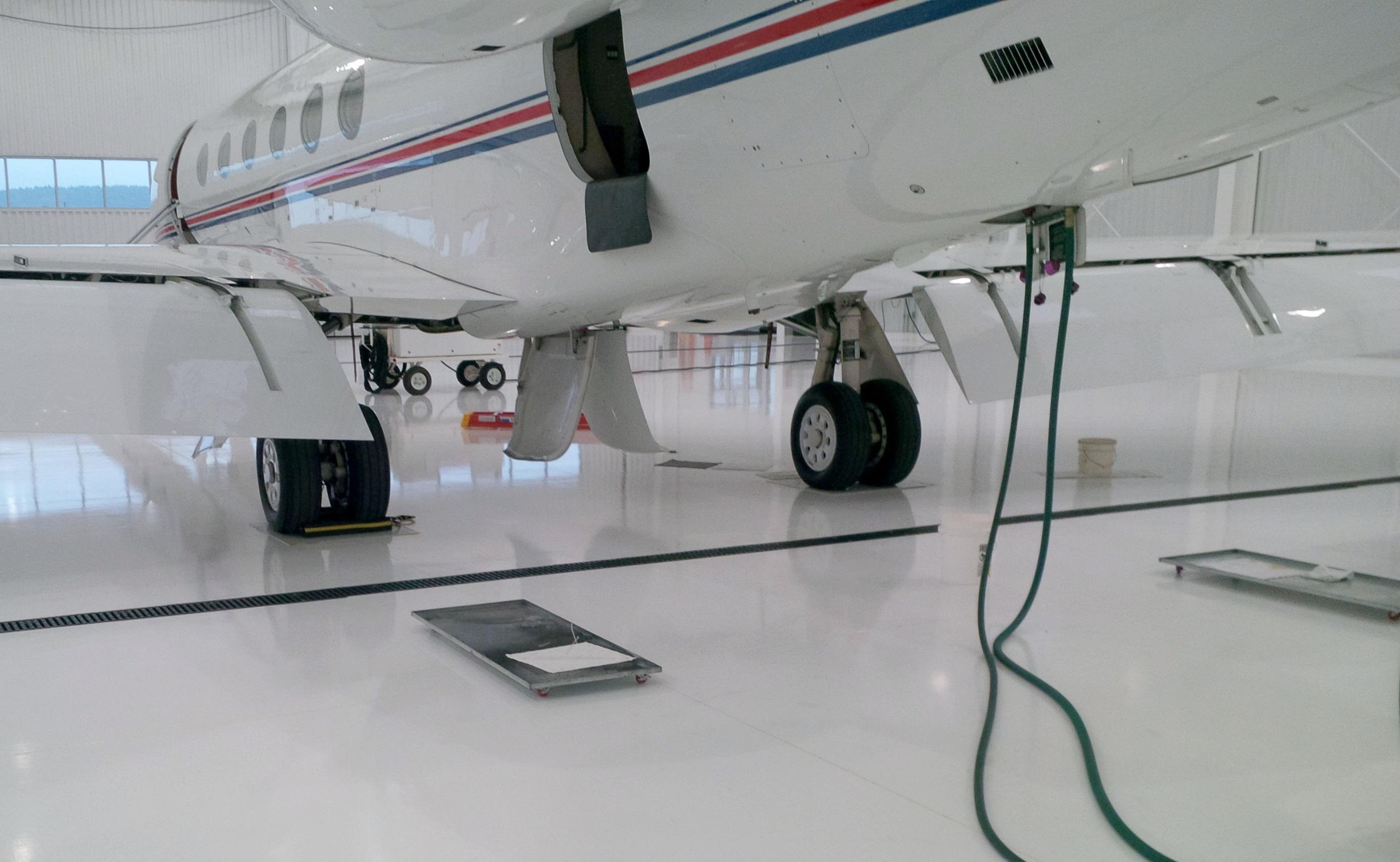 aircraft maintenance hangar drip pan