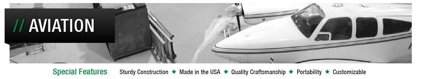 Image header for Aviation Drip Pan solutions page.