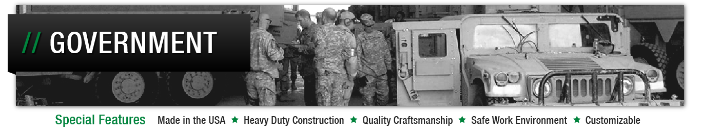 Image header for government and military spill containment solutions page.