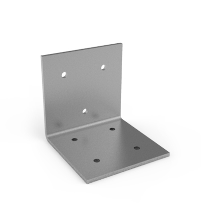 A metal angle bracket design