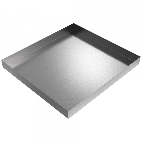 """Bargain Compact Washer Drip Pan - 27"""" x 25"""" x 2.5"""" - Stainless Steel"""