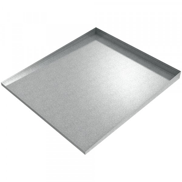 """Bargain Front-Load Washer Drip Tray - 36"""" x 32"""" - Galvanized Steel"""
