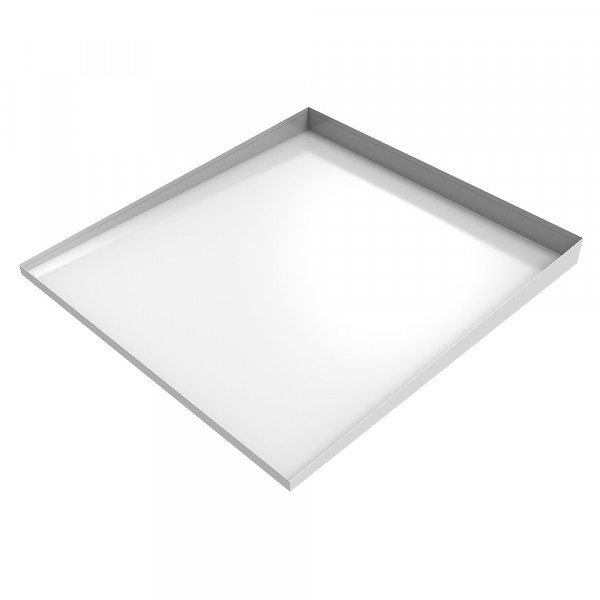 """Bargain Front-Load Washer Drip Pan 32"""" x 30"""" x 2.5"""" - White /Steel"""