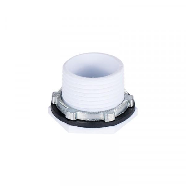 Threaded Hose Drain Pan Fitting - 1 inch - PVC