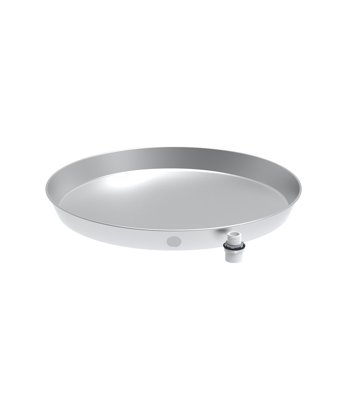 24 In Aluminum Water Heater Pan With Drain
