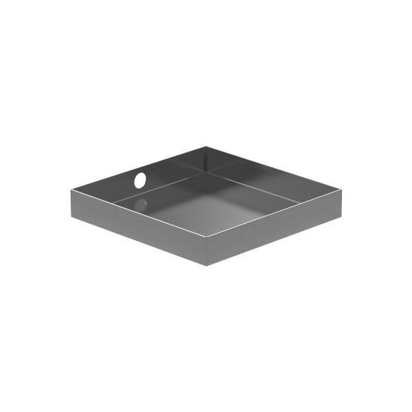 Wall Mount Drain Pan : Stainless steel drain pan