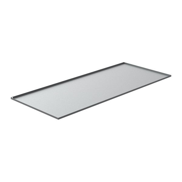 """Commercial Washer Drain Pan - 94"""" x 39.5"""" x 1"""" - Galvanized Steel"""