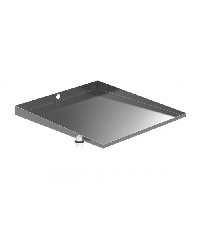 Stainless Front-Load Washer Floor Tray with Drain