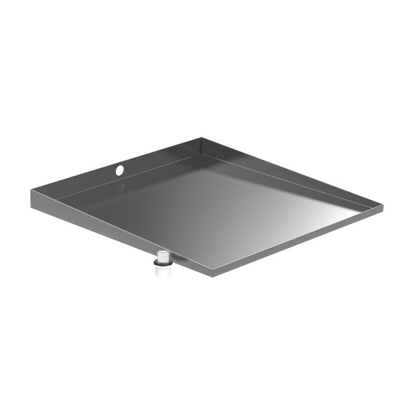 Stainless Front-Load Washer Floor Tray with Drain - Bargain