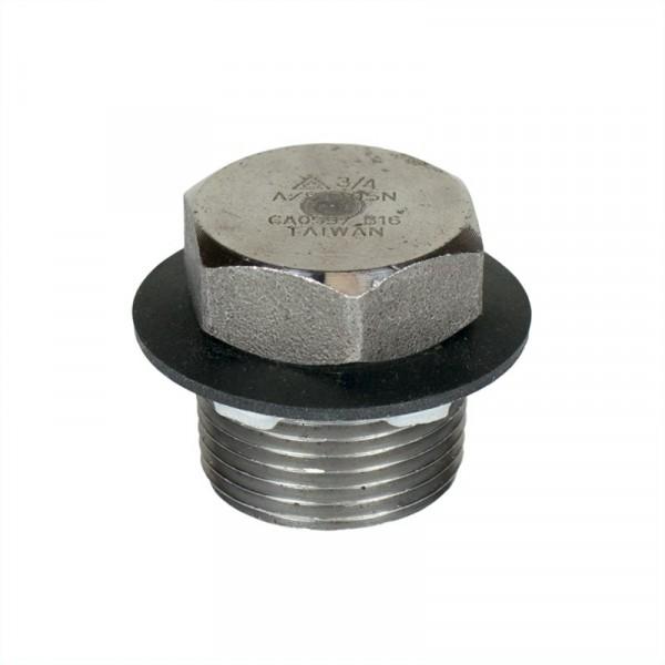 """Drain Plug Fitting - 3/4"""" - Steel"""