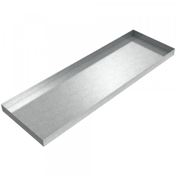 "AC Drip Pan - 44"" x 14"" x 2"" - Galvanized Steel"