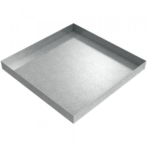 "AC Drip Pan - 20"" x 20"" x 2"" - Galvanized Steel"