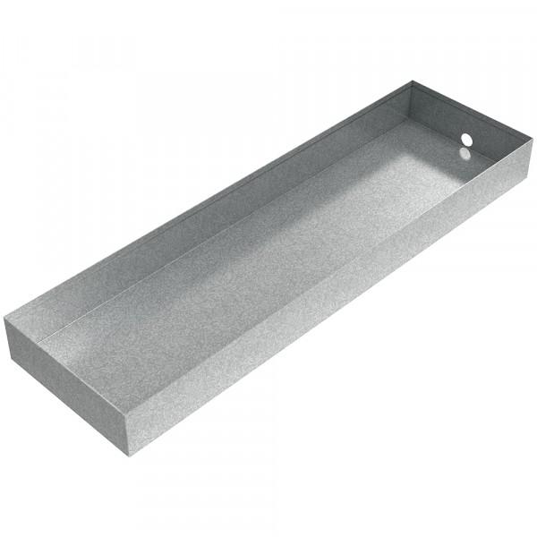 "AC Drain Pan - 27"" x 8"" x 2.5"" - Galvanized Steel"