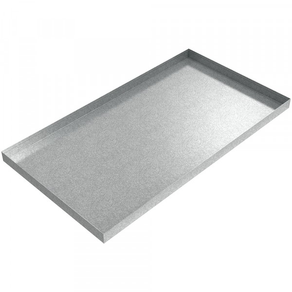 "AC Drip Pan - 44"" x 24"" x 2"" - Galvanized Steel"