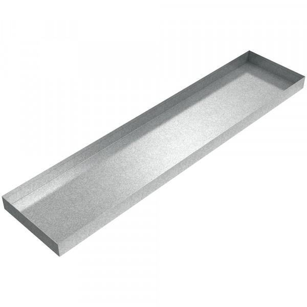 "AC Drip Pan - 44"" x 10"" x 2.5"" - Galvanized Steel"