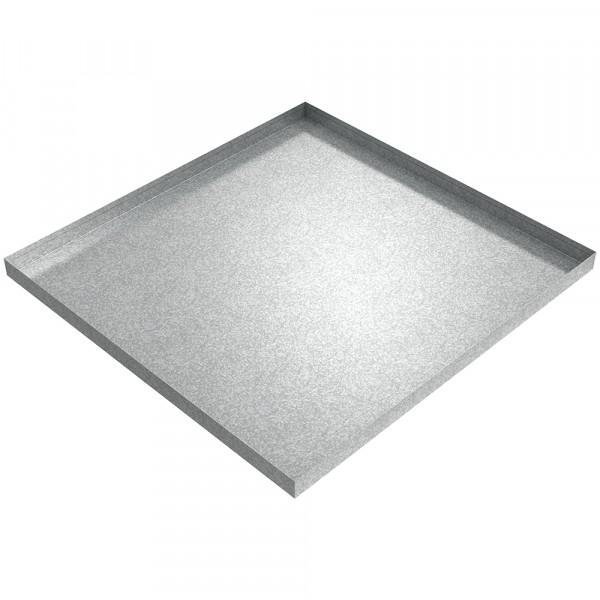 "Refrigerator Drip Pan - 29"" x 28"" x 1.5"" - Galvanized Steel"