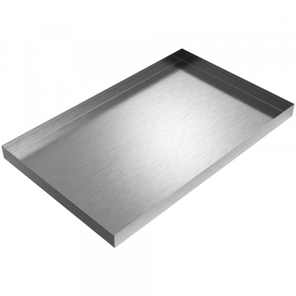 "Ice Maker Drip Pan - 24"" x 15"" x 1.5"" - Stainless Steel"