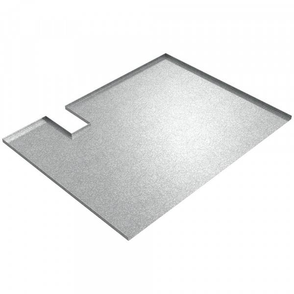 Undersink Drip Tray with Cut Out - Galvanized Steel