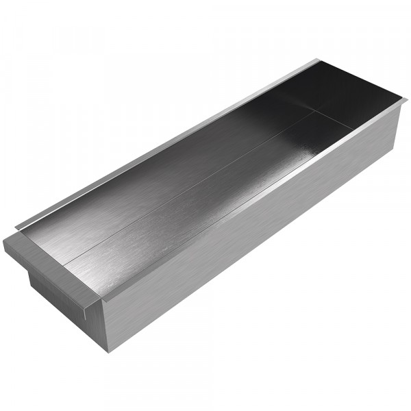 "Grill Drip Pan - 24"" x 6.5"" x 4"" - Stainless Steel"