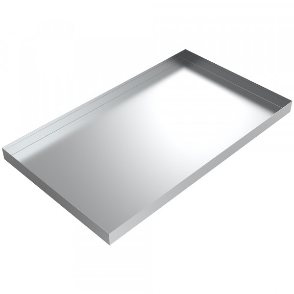 "Shower Steam Generator Drip Pan - 36"" x 21"" x 2"" - Aluminum"