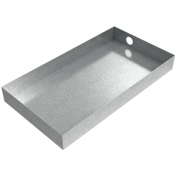 "Dehumidifier Drain Pan - 26"" x 14"" x 3"" - Galvanized Steel"