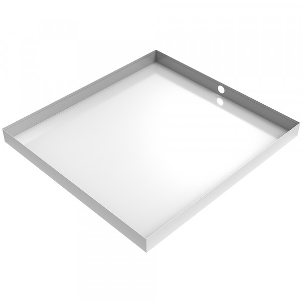Bargain White Washer Floor Tray with Drain 30x32 - BARGAIN