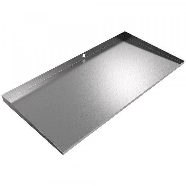 """Dual Front-Load Washer Drain Pan - 55"""" x 27"""" - Stainless Steel"""
