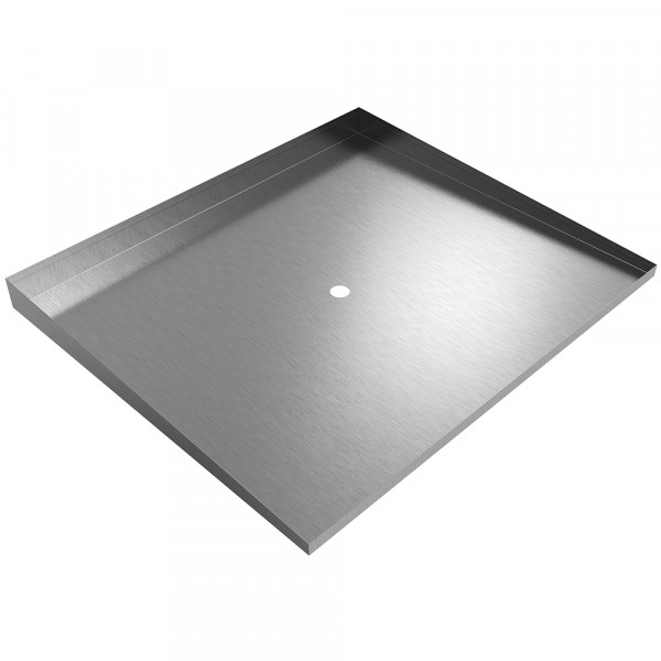 """Front-Load Washer Floor Tray - 34"""" x 29"""" - Stainless Steel"""