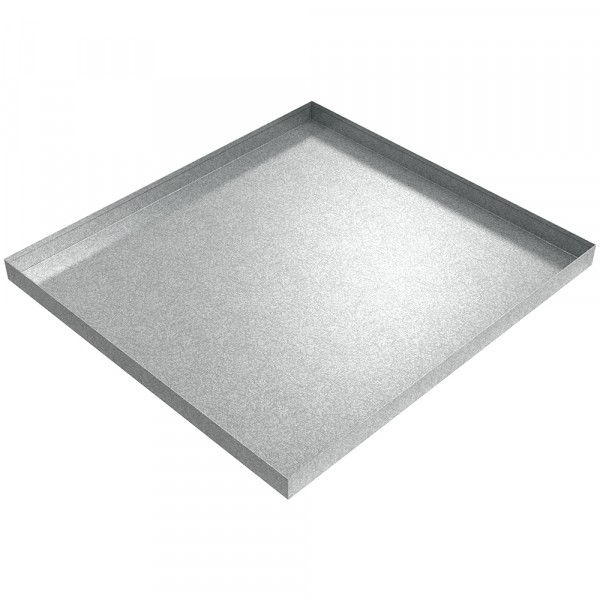 "Drip Pan - 30.5"" x 33"" x 2"" - Galvanized Steel"