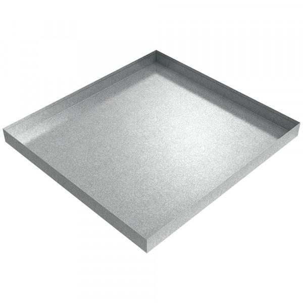 "Bargain Washer Drip Pan - 32"" x 30"" x 2.5"" - Galvanized Steel"