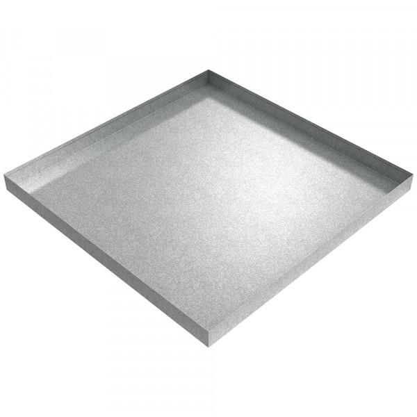 "Bargain Washer Drip Pan - 36"" x 36"" x 2.5"" - Galvanized Steel"