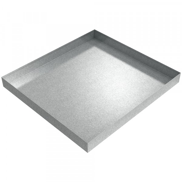 "Compact Washer Floor Tray - 27"" x 25"" x 2.5"" - Galvanized Steel"