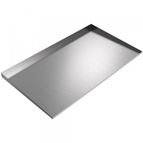 """Double Front-Load Washer Drip Tray - 56"""" x 32"""" - Stainless Steel"""