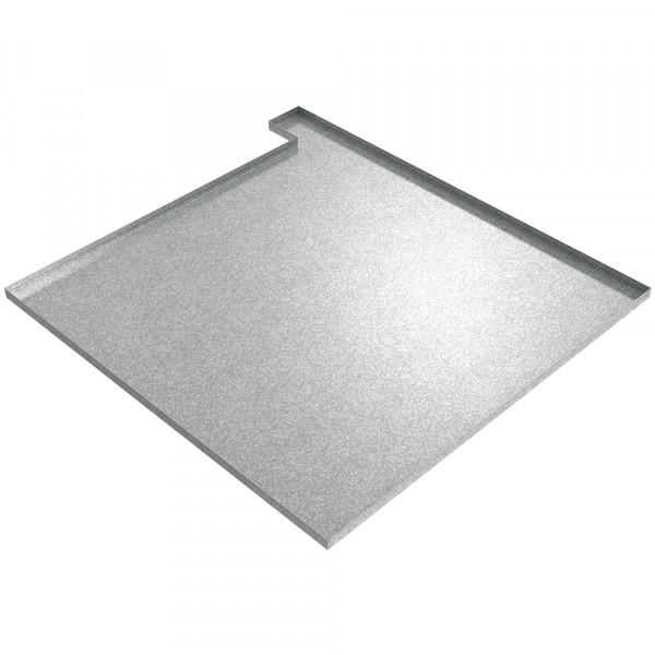 "Water Heater Drip Pan (Right) - 36"" x 36"" x 1"" - Galvanized Steel"