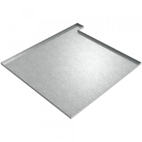 "Water Heater Drip Pan (Left) - 36"" x 36"" x 1"" - Galvanized Steel"
