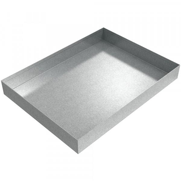 "Water Heater Drip Pan - 32.75"" x 24.5"" x 4"" - Galvanized Steel"