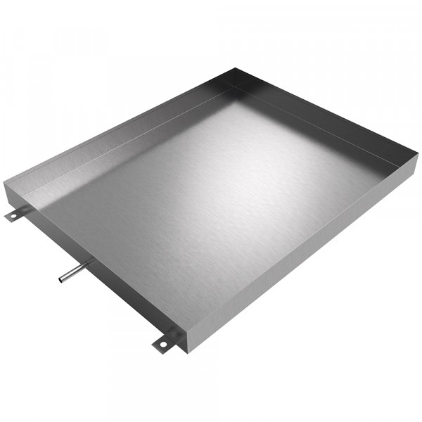"Floor Mount HVAC Drain Pan - 48"" x 38"" x 4"" - Stainless Steel"