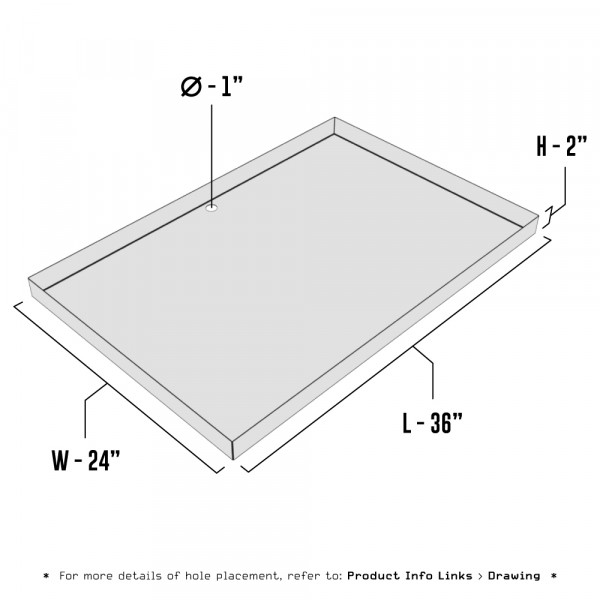 Galvanized Metal Drain Pan