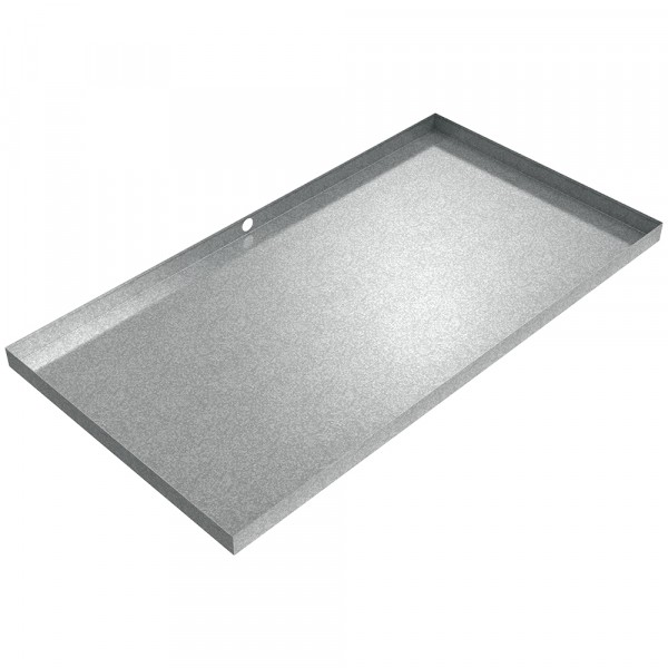 "HVAC Drain Pan - 64"" x 34"" x 2.5"" - Galvanized Steel"