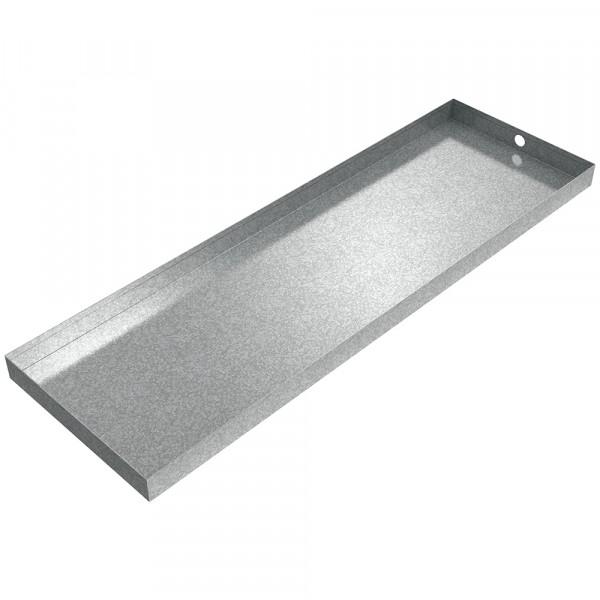 "HVAC Drain Pan - 44"" x 14"" x 2"" - Galvanized Steel"