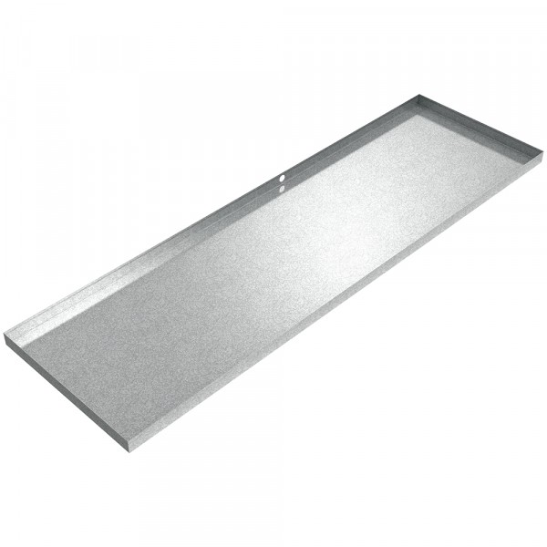 "HVAC Dran Pan - 100"" x 30"" x 2.5"" - Galvanized Steel"
