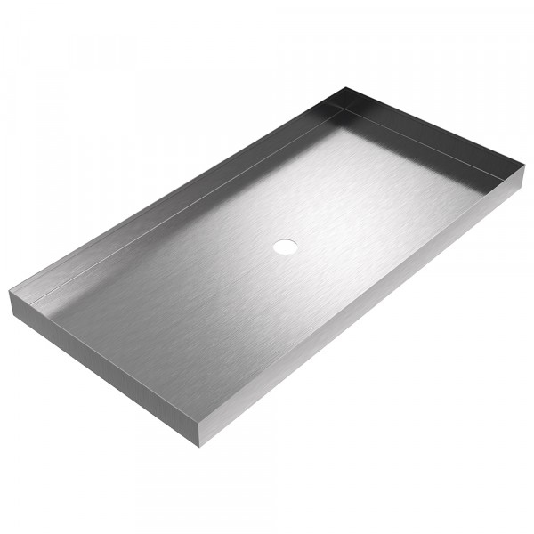 "Chiller Drain Pan - 40"" x 19.75"" x 2.5"" - Stainless Steel"
