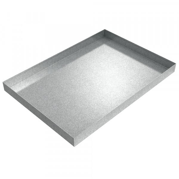 "Hydraulic Unit Drip Pan - 40"" x 28"" x 3"" - Galvanized Steel"