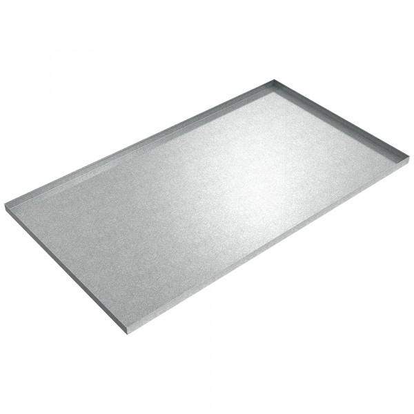 "Vertical Baler Drip Pan - 78"" x 44"" x 2"" - Galvanized Steel"