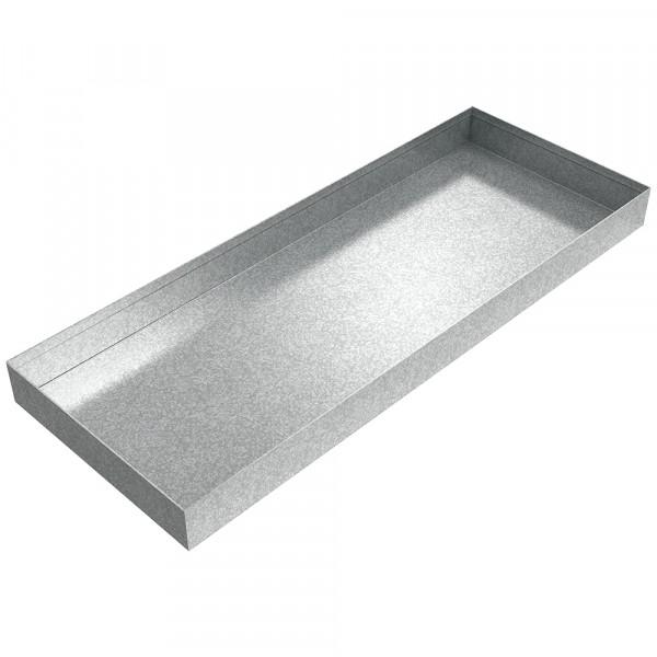 "Oil Heater Drip Pan - 25"" x 10"" x 2"" - Galvanized Steel"