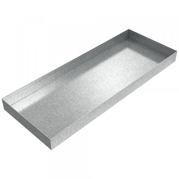 "Oil Heater Drip Pan - 26"" x 10"" x 2"" - Galvanized Steel"