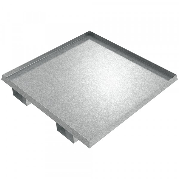 "Drum Spill Pallet - 40"" x 40"" x 2"" - Galvanized Steel"