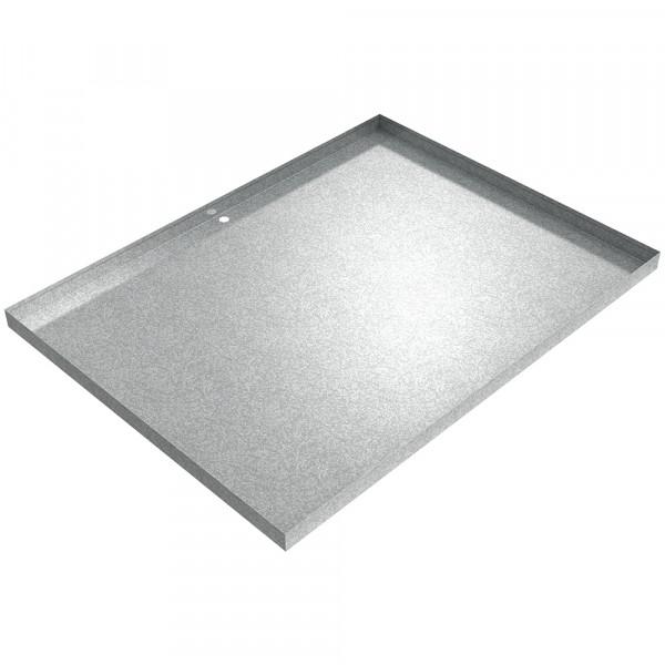 "Drain Pan - 48"" x 36"" x 2"" - Galvanized Steel"