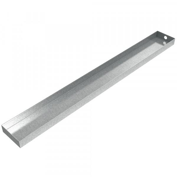 "Heavy Duty Drain Trough - 52.5"" x 6"" x 2"" - Galvanized Steel"